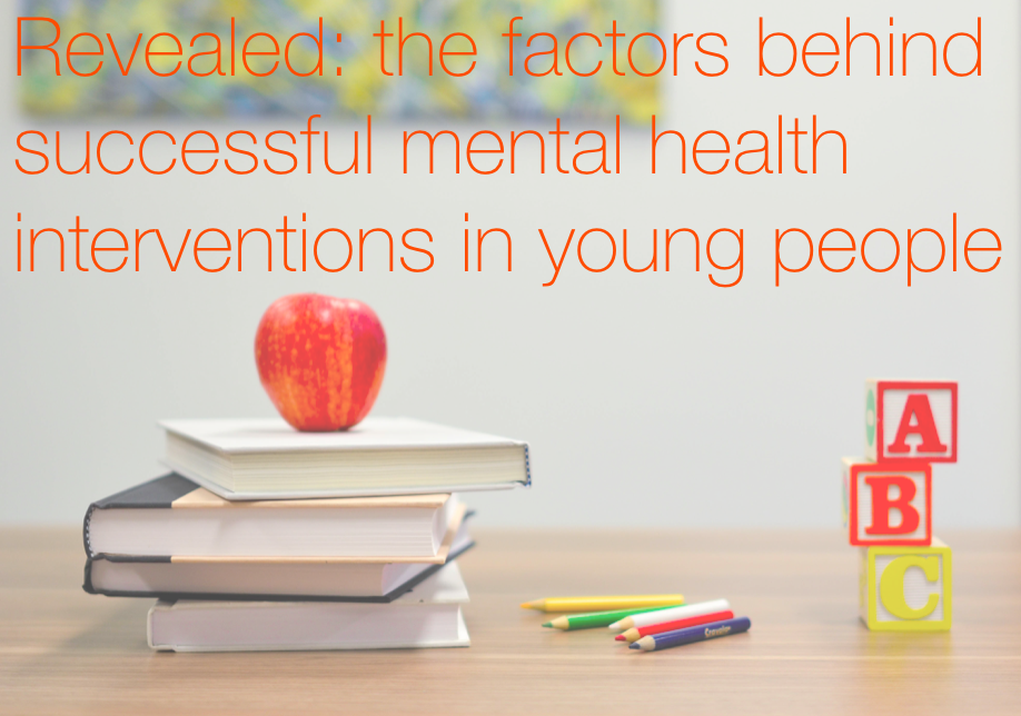 GOV STUDY REVEALS MENTAL HEALTH INTERVENTIONS THAT REALLY WORK